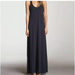 Velvet Graham Spencer Maxi Dress Black Cotton Slub